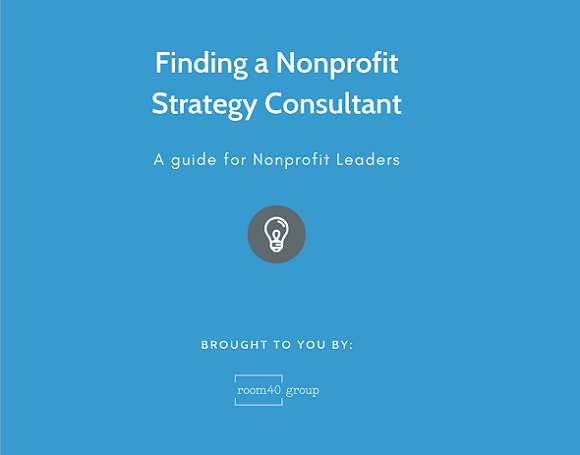 Finding a nonprofit strategy consultant